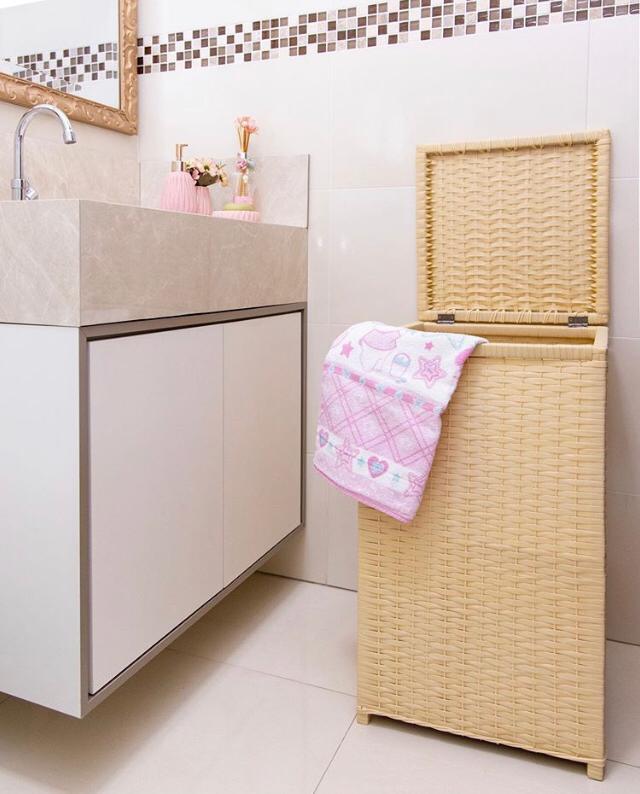 foto de Cesto de roupa e kit wc!