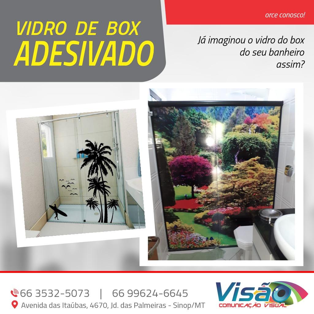 foto de Vidro de Box Adesivado!