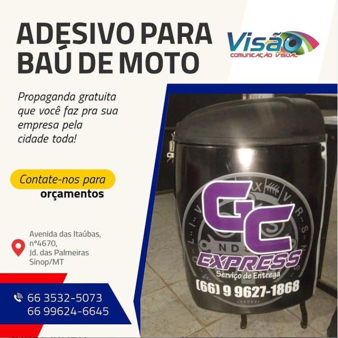foto de Adesivo para baú de moto
